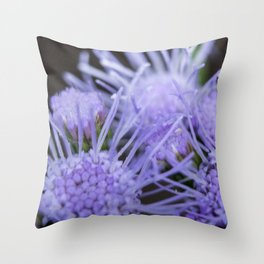 Blue mist blooms Throw Pillow