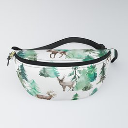 Deers and Forest Trees Fanny Pack