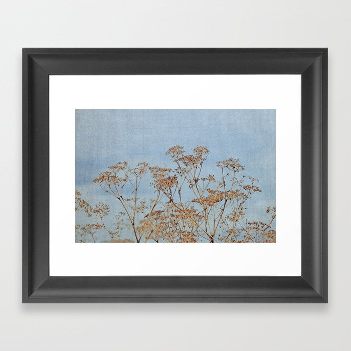 Hogweed - Almost Autumn - JUSTART © Framed Art Print