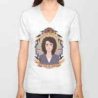 ripley V-neck T-shirts featuring Ellen Ripley by heymonster