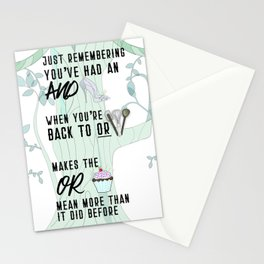 When it's time to leave the Woods (aka The Baker's Wife and Cinderella) Stationery Cards