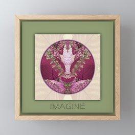Imagine Manifestation Mandala No. 3 Framed Mini Art Print