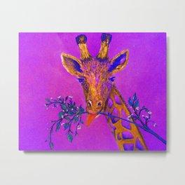 Psychedelic Giraffe Metal Print