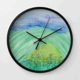 Violets in the Summertime Wall Clock