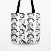 hip hop Tote Bags featuring Hip Hop by Tristan