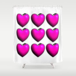 You Have My Heart all Zipped Up Shower Curtain