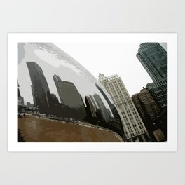 Bean Reflection of Chicago Winter Art Print