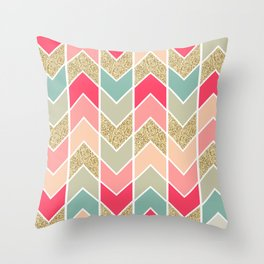 Distorted Chevron in Dream Sequence Throw Pillow