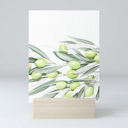 Olive branches Mini Art Print