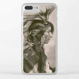 Portrait of Cree Indian by George E. Fleming, 1903 Clear iPhone Case