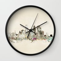minneapolis Wall Clocks featuring minneapolis minnesota by bri.buckley
