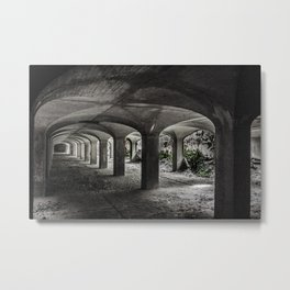 Filtration cells collapsing Metal Print