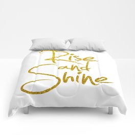 Rise And Shine Glitter Gold Comforters