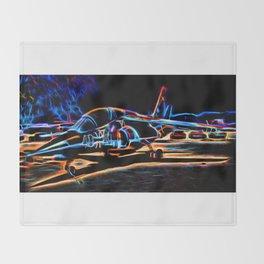 Neon Jet Throw Blanket