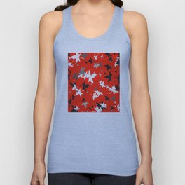Forever Autumn Leaves red 5 Unisex Tank Top