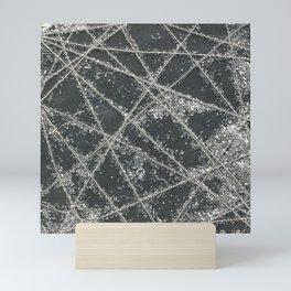 Sparkle Net Black Mini Art Print