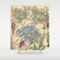 tiffany Shower Curtains featuring tiffany garden by Ariadne