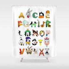 That's Alphabet Folks Shower Curtain