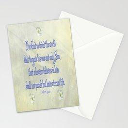 John 3:16 Dogwood Stationery Cards