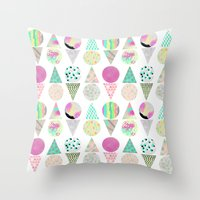 psychedelic Throw Pillows featuring Psychedelic by Catalina Montaña