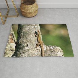 Lizard Sunning on Tree Branch Rug