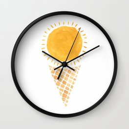 Sun Ice Cream Cone Wall Clock