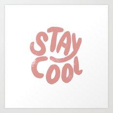 Stay Cool Vintage Pink Art Print