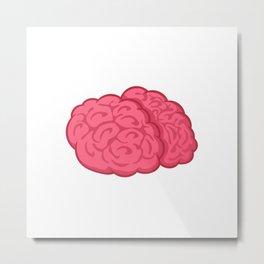 Brains Metal Print