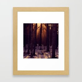 Sunset in the evening Framed Art Print