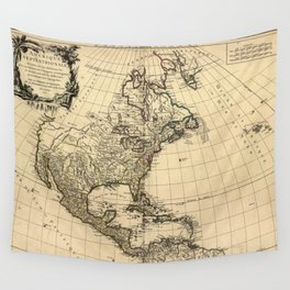 North America 1750 Wall Tapestry