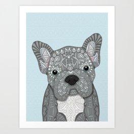 Gray Frenchie 001 Art Print