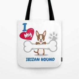 IBIZAN HOUND Cute Dog Gift Idea Funny Dogs Tote Bag