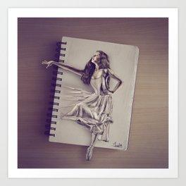 Sketched Art Print