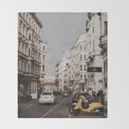 The streets of Vienna Throw Blanket
