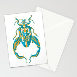 Sagra Beetle _ Psychedelic bug 3.2 _ Besouro Independente Stationery Cards