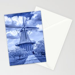 Delft Blue Dutch Windmill Stationery Cards