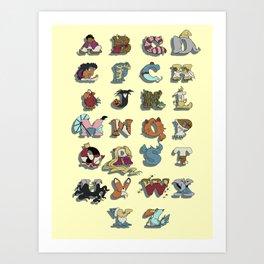 The Disney Alphabet Art Print