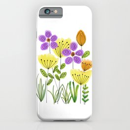 Yellow Tulip Roses iPhone Case