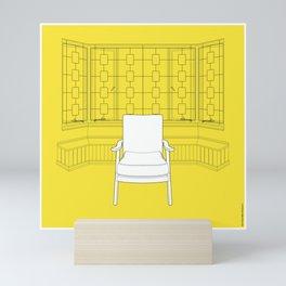 Seating Spaces Colour Yellow Mini Art Print