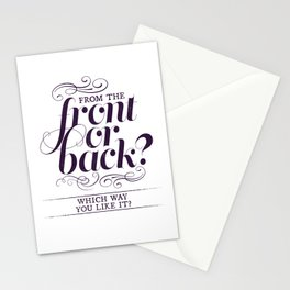 Front or Back? Stationery Cards