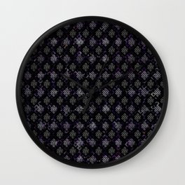 Endless Knot pattern - Silver and Amethyst Wall Clock