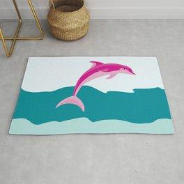 Dolphin theme art Rug