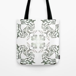 die liebe zu den Drachen - der Drachenschutz the love of the dragon the dragon protection (A7 B0037) Tote Bag