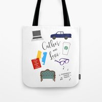levi Tote Bags featuring Cather and Levi by Book Spectacle