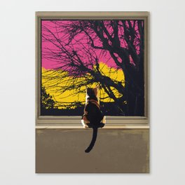 The Cat Knows.... Canvas Print
