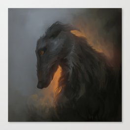 Cu Sidhe (The Black Dog) Canvas Print