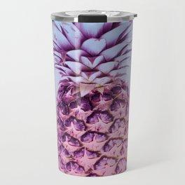 Light Blue and Pink Pineapple Travel Mug