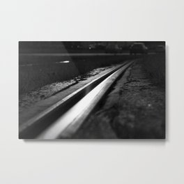 Abstract view on the railroad Metal Print