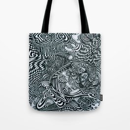 Liquid Skull Tote Bag