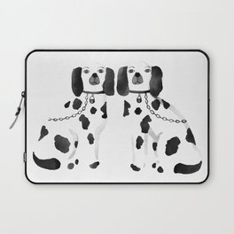 Staffordshire Dogs (Black) Laptop Sleeve